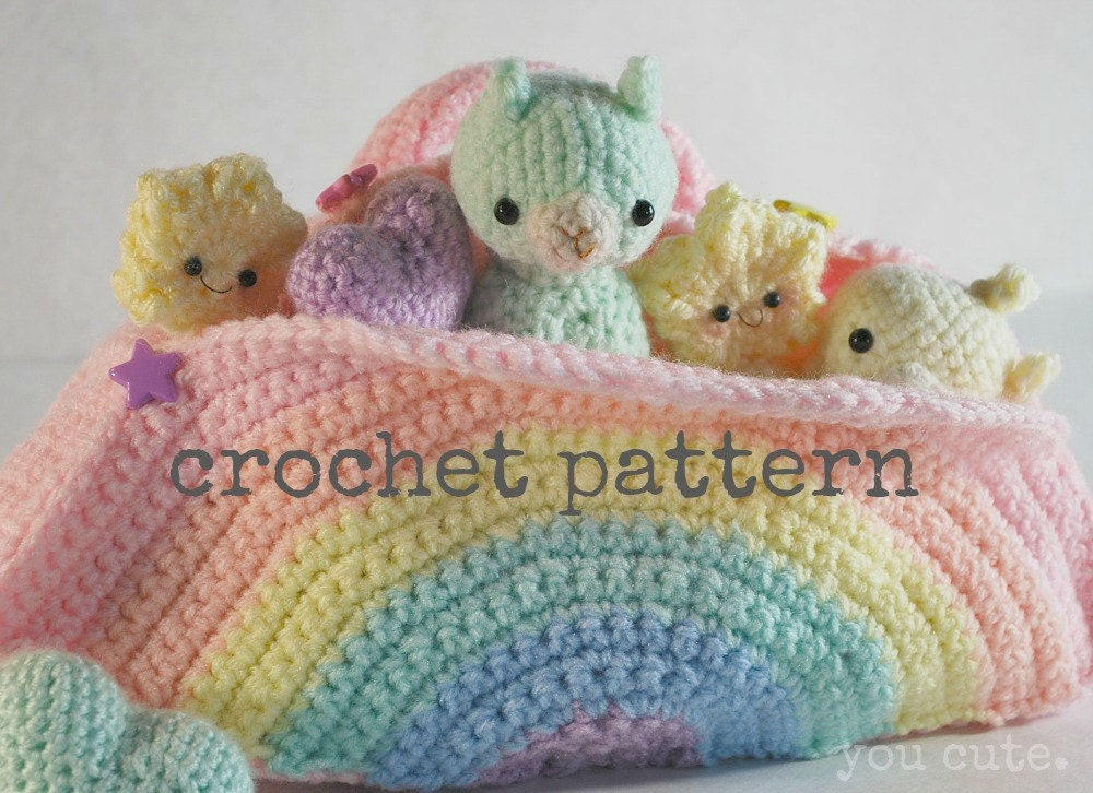 Alpaca Amigurumi Crochet Patterns : CROCHET PATTERN Amigurumi Alpaca and Rainbow Box