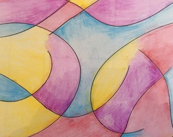 Studio clearout sale! Colorful abstract watercolor