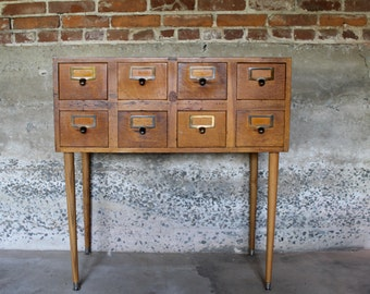 File Away... Antique Globe Library Card Catalog File, Library File, Card Catalogue, Card File, Dewey Decimal