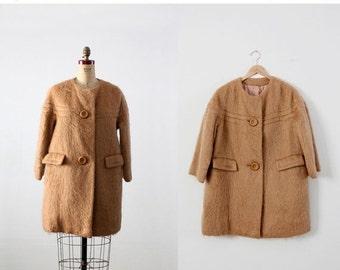 SALE vintage 60s mohair swing coat