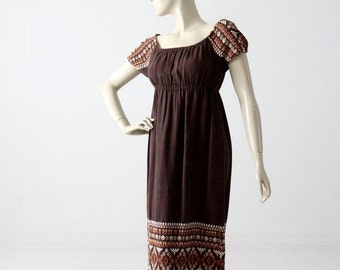 SALE vintage 70s embroidered peasant dress