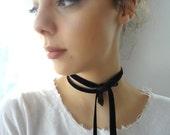 Velvet Ribbon, Velvet Choker,collar necklace, Victorian choker, black velver choker, ribbon choker, velvet ribbon, necktie