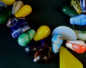 20% WINTER SALE Big Globular Glass AFRICAN Trade Beads in a Rainbow of Colors, Shapes, and Sizes