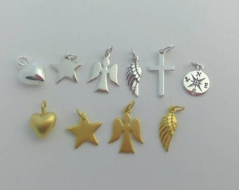 Add a personal touch ... charm ... sterling silver or 24k gold plated sterling silver