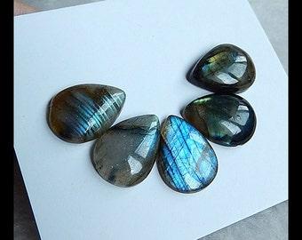 SALE,5 PCS Labradorite Gemstone Cabochons,6.25g