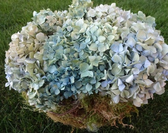 Hydrangea Arrangement  Rustic Arrangement  Dried Hydrangeas    Floral Arrangement  Home Decor  Birthday Gift  Get Well Gift