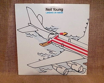 Neil Young - Landing on Water - 1979 Vintage Vinyl Record Album
