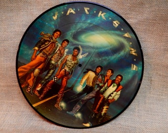 SEALed...The Jacksons...featuring Michael Jackson - 1984 Vintage Vinyl Record Album...Official Picture Disc
