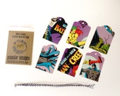 6 Batman Comic Book Tags   Gift Tags   Birthday Gift Tags   Wedding Gift Tags  Vintage Re-purposed Recycled Upcycled
