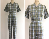 1950s Bobbie Brooks Outfit Set Pants Blouse 50s
