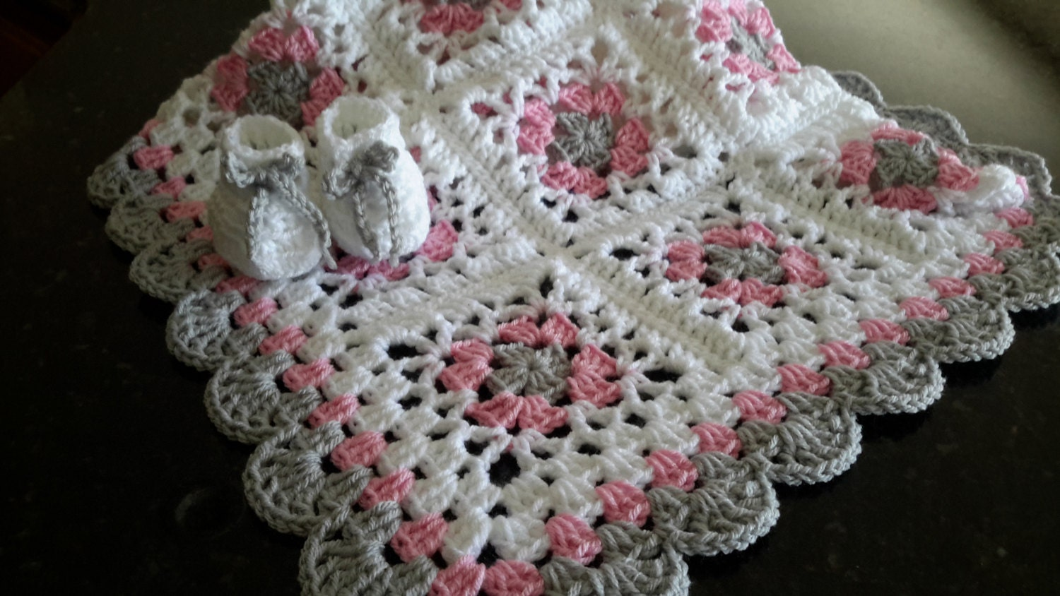 Crochet Granny Square Baby Afghan Pattern : baby girl lacy granny square baby crochet blanket afghan