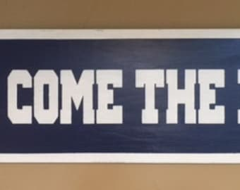 "Here Come The Irish Tunnel Sign 9""x36"""