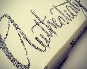Custom Word of the Year, Core Desired Feelings, Motto Mantra Original Drawings