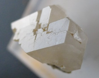 Awesome Double Terminated Phenacite Crystal with Rare Lightning Bolt pattern, 9.5cts