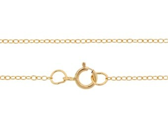 Finished Chains with spring ring clasp Gold Filled 1.5x1.2mm 24 Inch Cable Chain - 1pc (2787)/1