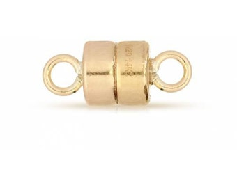 14Kt Gold Filled 4mm Magnetic Clasp - 10 Sets 25% discounted Made in USA (4432)/5