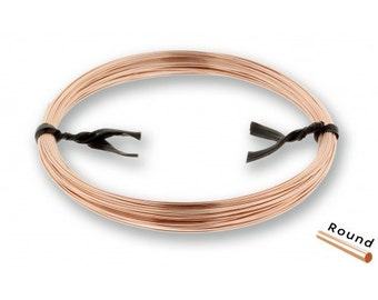 14Kt Rose Gold Filled 28Gauge Half Hard Round Wire - 1/2 Troy Ounce - NEW low Wholesale Price - Made in USA (5853)/1