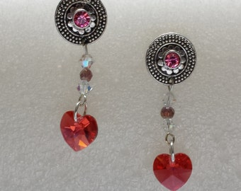 My Crystal Heart Earrings
