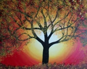 Modern Abstract Tree of Life Painting - by Alma Yamazaki