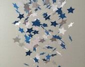 Star Light, Star Bright - Star mobile -  Blue, White and Light Gray