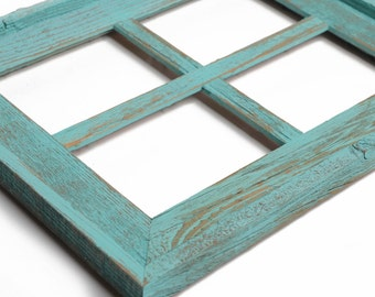 Wide Rustic Barn Window Picture Frame-Wedding Gift-Rustic Picture Frame-Collage Photo Frame- Window Pane Picture Frame-