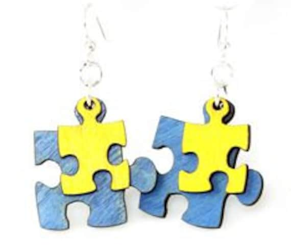 Puzzle Piece Earrings - Autism Awareness