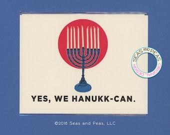 YES WE HANUKKCAN - Funny Hanukkah Card - Hanukkah - Hanukkah Card - Funny Hanukkah - Funny Card - Card for Friend - Holiday - Item# X096