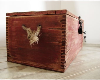 The Nanking .|. red-brushed wood chest