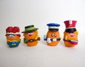 Vintage 1988 McDonald's McNuggets Happy Meal Toys - LOT of 4