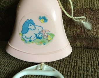 Vintage Tomy Music Pull Toy - plays Rock A Bye Baby