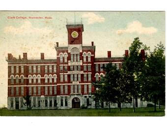 CLARK UNIVERSITY Clark College, Worcester Massachusetts Vintage Unused Postcard