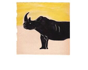 Rhino - Art Print