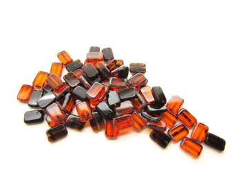 73 Czech Tablet Beads with Picasso Edging