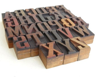 50% OFF - A to Z - Vintage Letterpress Wood Type Collection - LP041