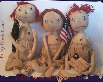 American Annie and Friends Primitive Doll E-Pattern digital download
