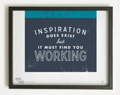 Graphic Design Typography Giclee Poster | Pablo Picasso Quote - He Said She Said series