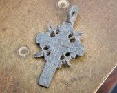 Antique metal Old cross Christian Cross pendant. Orthodox church