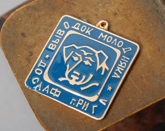 Vintage metal dog tag, charms, finding.