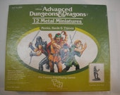 Advanced Dungeons & Dragons Monks Bards And Thieves Boxed Miniatures Set Of 12