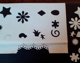 Arts, Crafts, Scrapbooking, Projects. 12 Paper Shaper Punches and Edge Cutter. Ramadan, Martha Stewart, EK, Marvy. G-273.