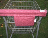 Shopping Cart Cover, Cart Handle Cover, Cart Cover, Shopping Cart Covers, Maroon Print Cart Cover, Handy Cart Cover - Handy Cart Cover