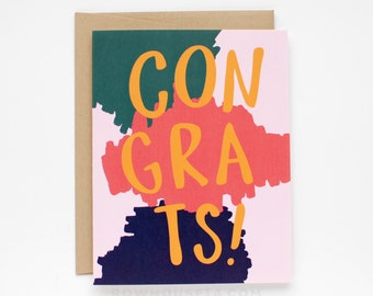 Congrats Card - Congratulations Card - Wedding Card