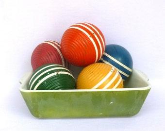 Vintage GREEN Shabby PYREX CASSEROLE/ Cake Pan