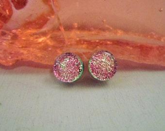 Light Pink Round Stud Earrings