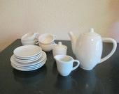 Vintage Child White Ceramic/Porcelain Tea Set