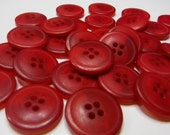 "20 Red 2 Tone with Rim Round Buttons Size 13/16""."