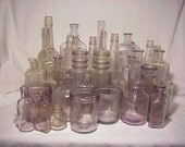c1890-1915 Group of 33 True SCA Sun Colored Amethyst Purple tinted bottles , Great 4 Wedding Decor