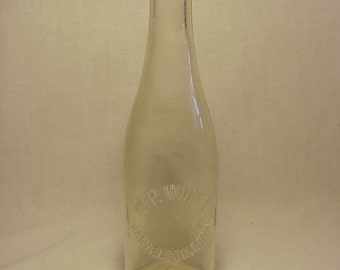 c1915-20 W. P. White Danielson, Conn. , Crown Top Clear Glass Soda Bottle