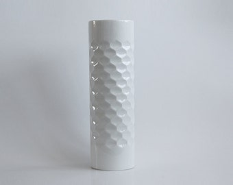 Vintage Architectural XL Porcelain Bisque Vase  - Werner Uhl for Scherzer 1970s