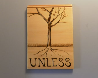 Unless Tree pyrography portrait of a tree wall hanging on pine made to your specifications